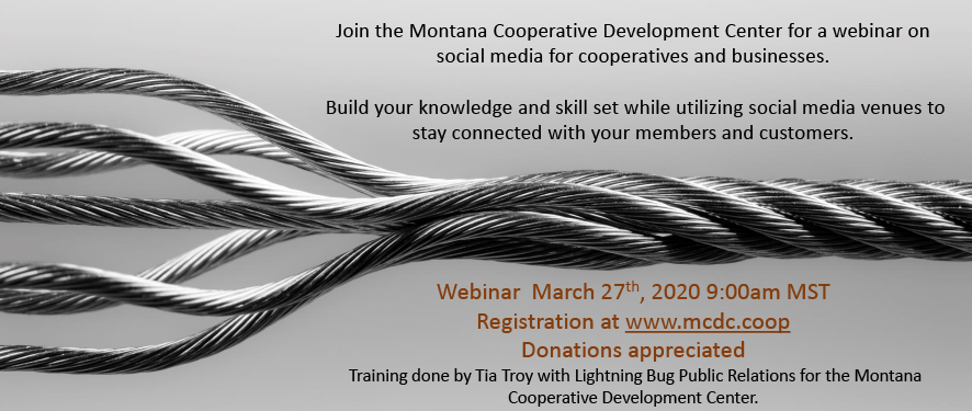 Social Media for Cooperatives and Businesses Webinar